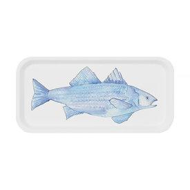 Trays4Us Sara Fitz Blue Fish Tray Small