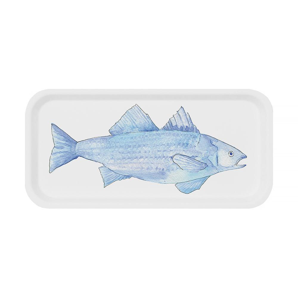 Sara Fitz Blue Fish Tray Small