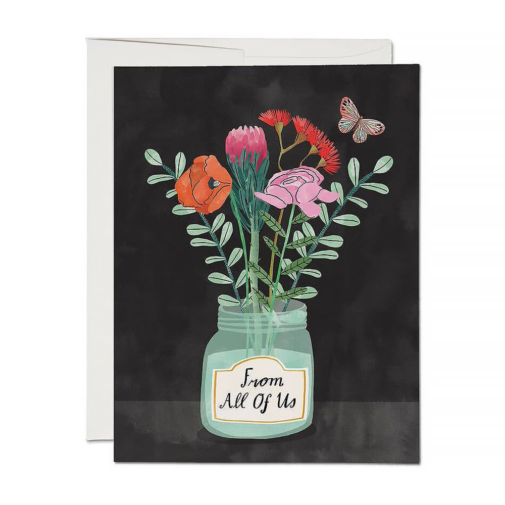 Red Cap Cards - Flowers From Us