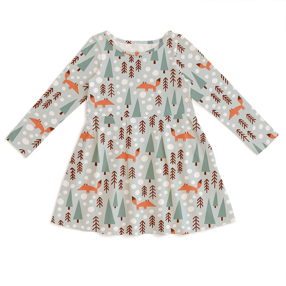 Winter Water Factory Madison Dress -  Foxes Pale Blue