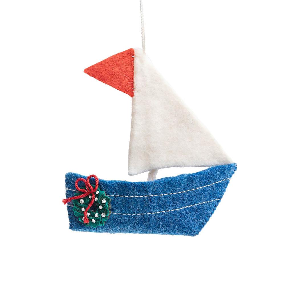 Craftspring Dayboat Dream Wreath Sailboat Ornament