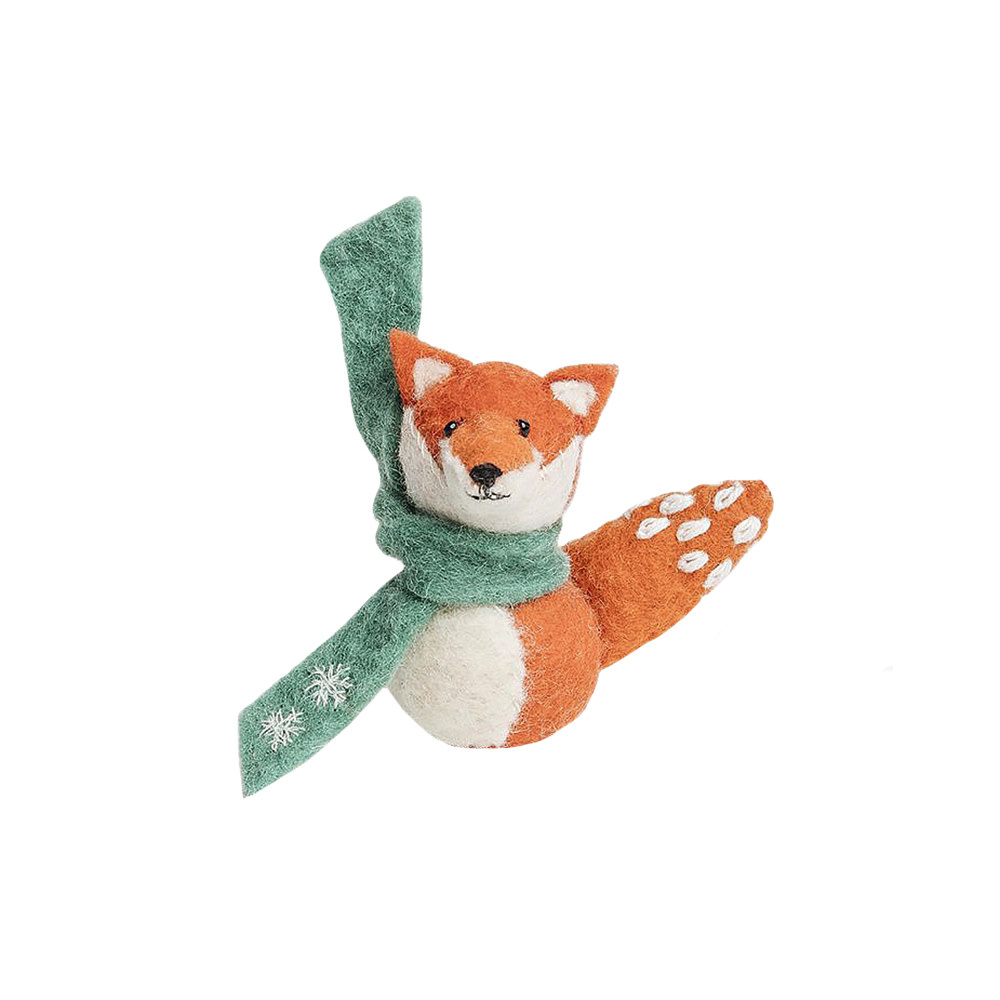 Craftspring Craftspring Snow Kiss Fox Ornament