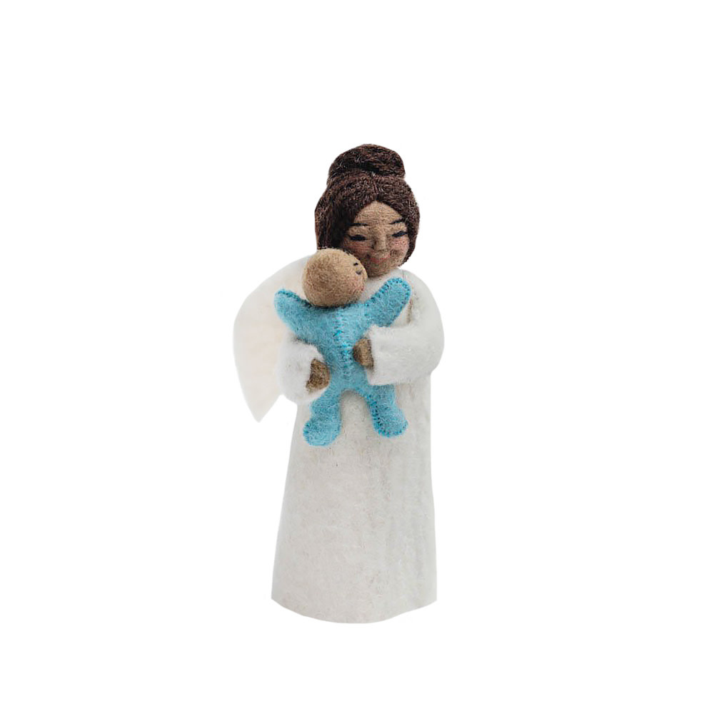 Craftspring Craftspring Brown Mother's Presence Angel - Blue