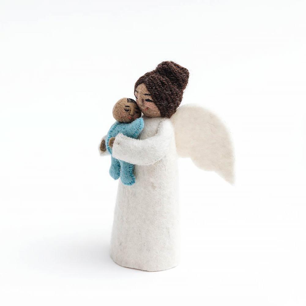 Craftspring Brown Mother's Presence Angel - Blue