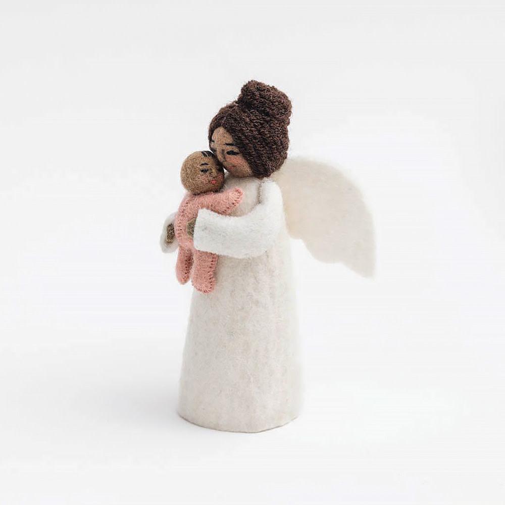 Craftspring Brown Mother's Presence Angel - Pink
