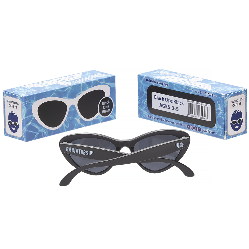 Babiators Sunglasses - Black Ops Black Cat-Eye