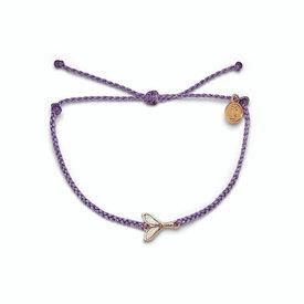 Pura Vida Pura Vida Mermaid Fin Bracelet - Light Purple/Rose Gold