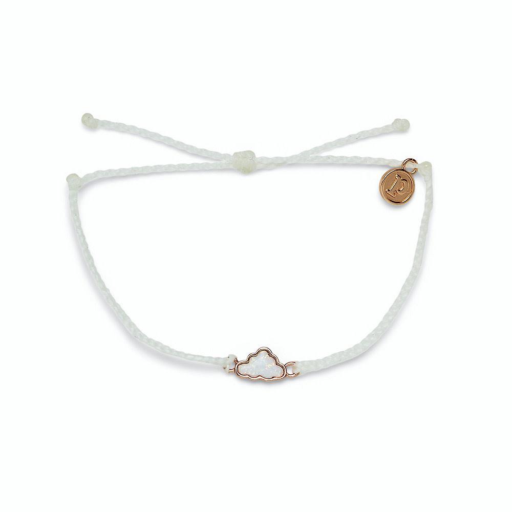 Pura Vida Pura Vida Opal Cloud Bracelet - White/Rose Gold
