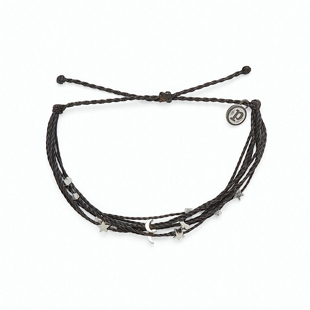Pura Vida Pura Vida Celestial Malibu Bracelet - Black/Silver