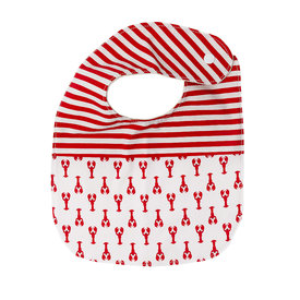 Two Little Beans and Co. Two Little Beans Baby Bib Lobster/Red Stripe Onesize