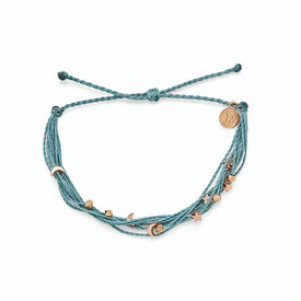 Pura Vida Pura Vida Celestial Malibu Bracelet - Smoke Blue/Rose Gold