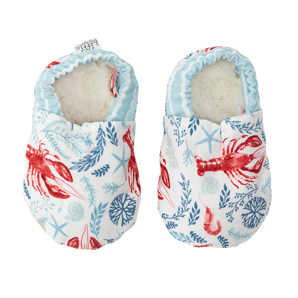 Two Little Beans Baby Booties - Teal Lobster