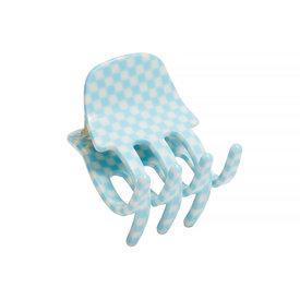 Machete Machete - Mini Claw Hair Clip - Blue Checker