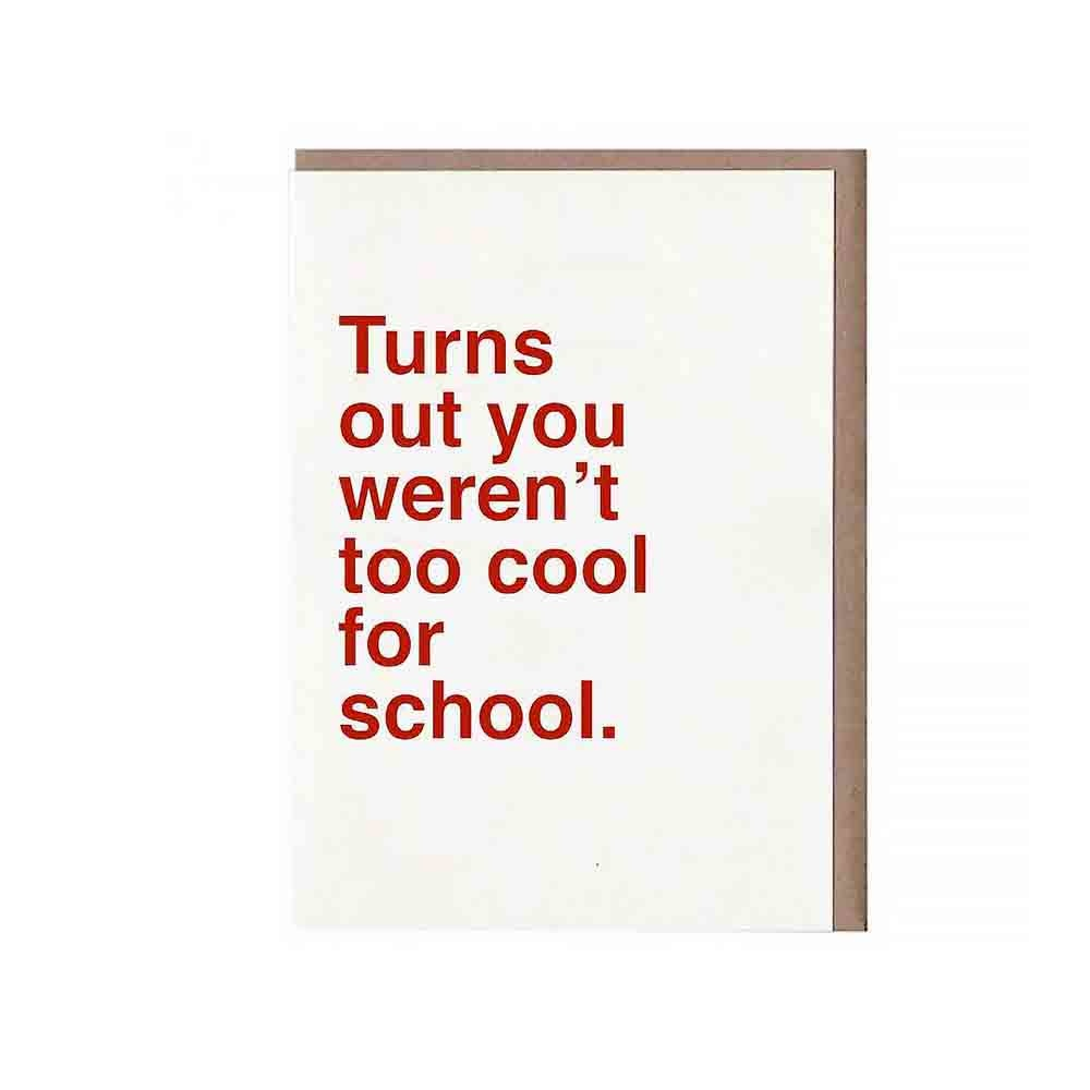 Sad Shop - Too Cool For School Card