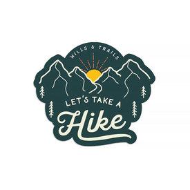 Hills & Trails Co. Hills & Trails Sticker - Let's Take a Hike