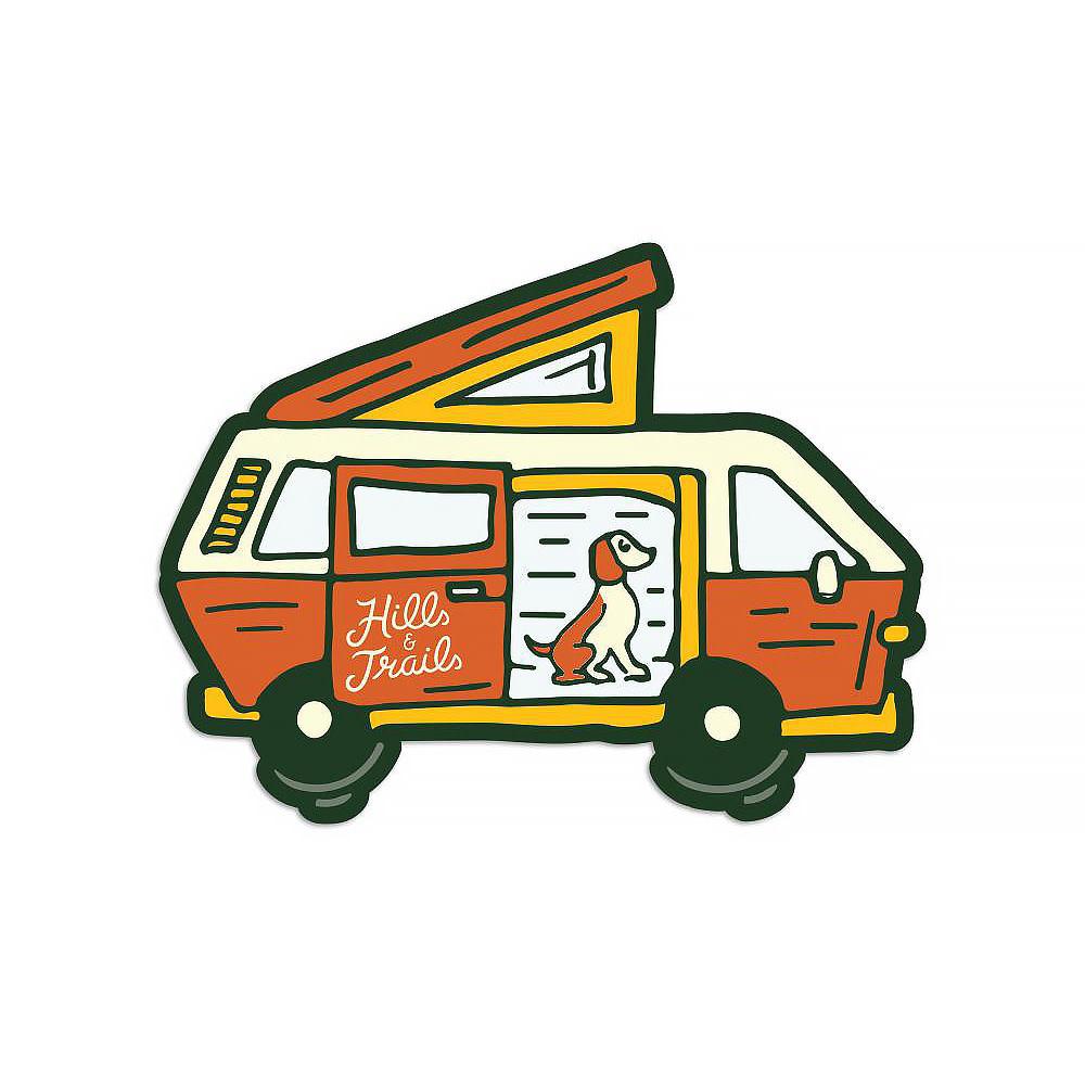 Hills & Trails Co. Hills & Trails Sticker - Camper Van