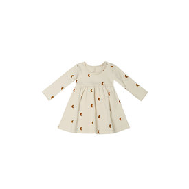 Quincy Mae Quincy Mae Jersey Longsleeve Dress Moons - Natural