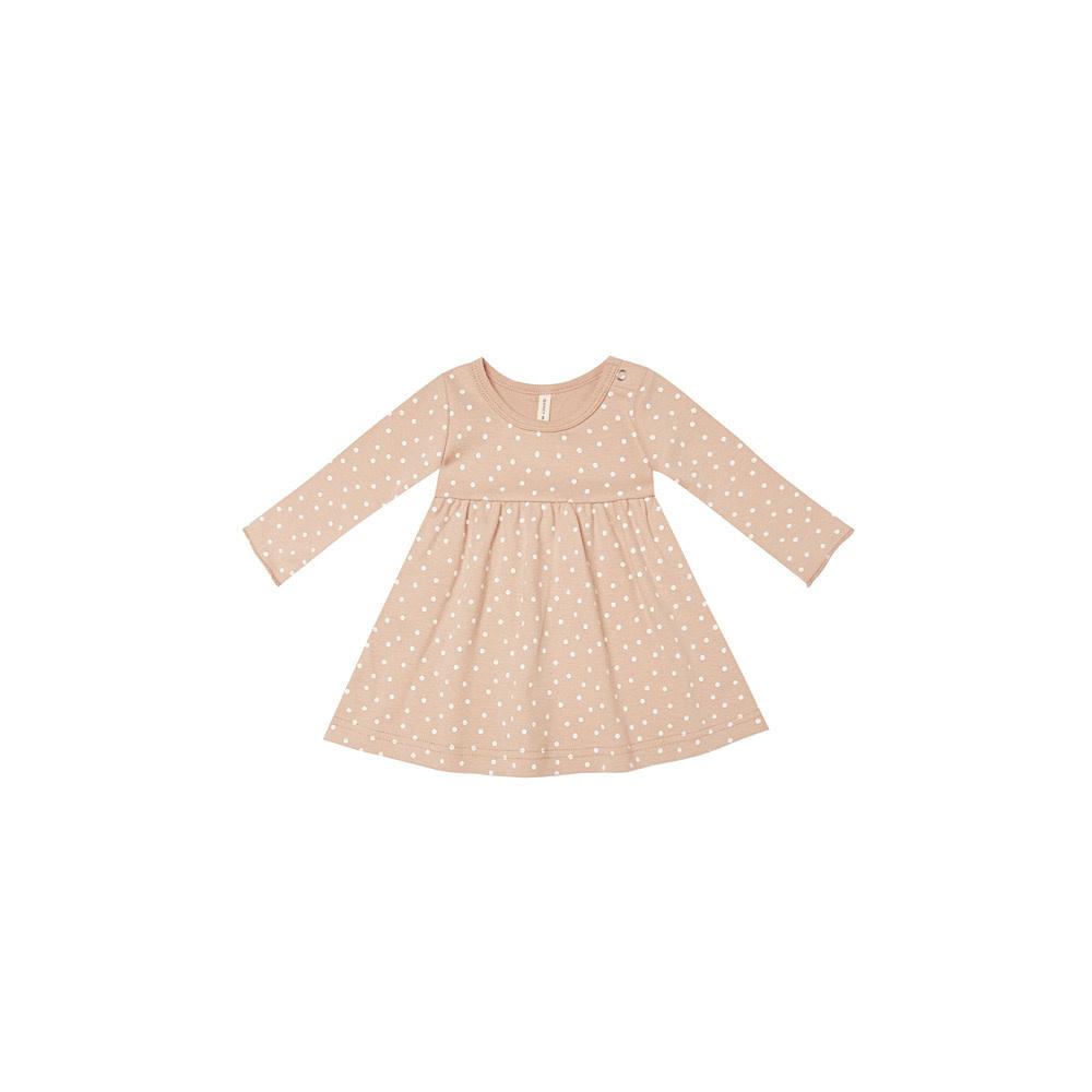 Quincy Mae Jersey Longsleeve Dress - Petal
