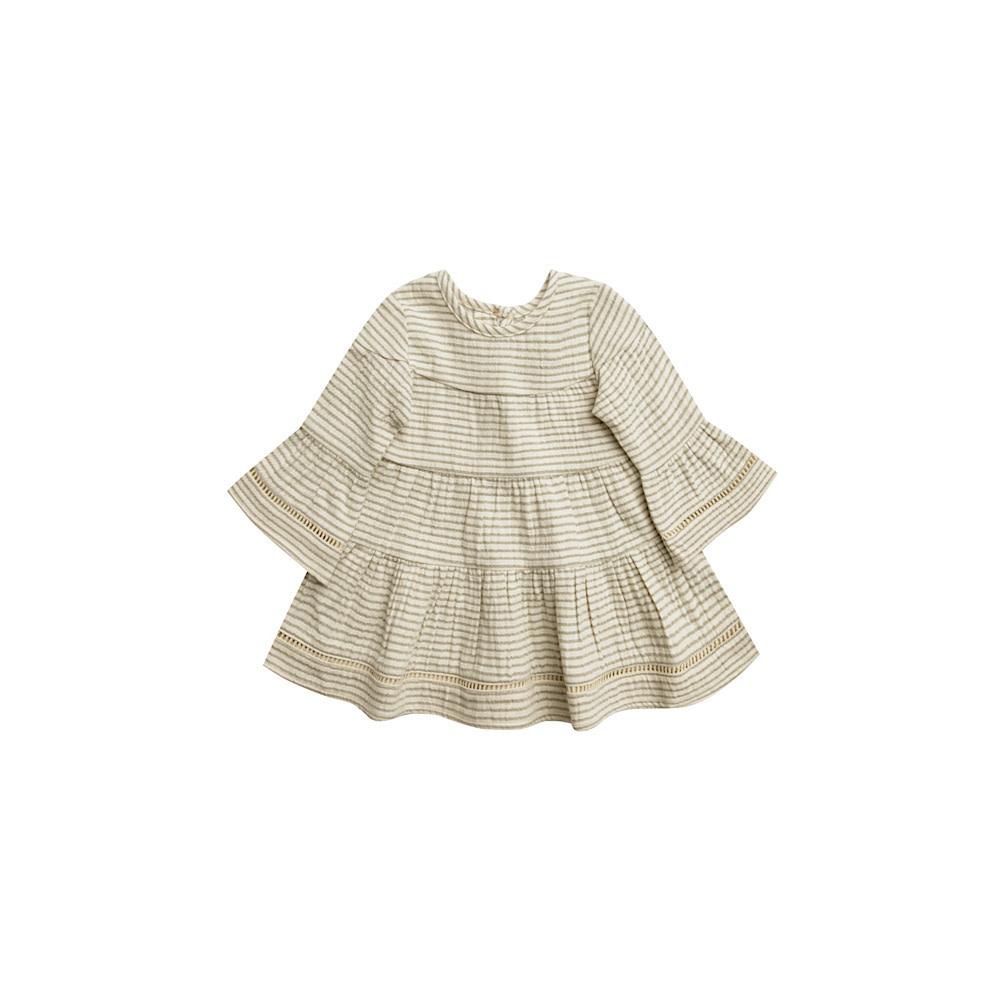 Quincy Mae Belle Dress - Basil Stripe