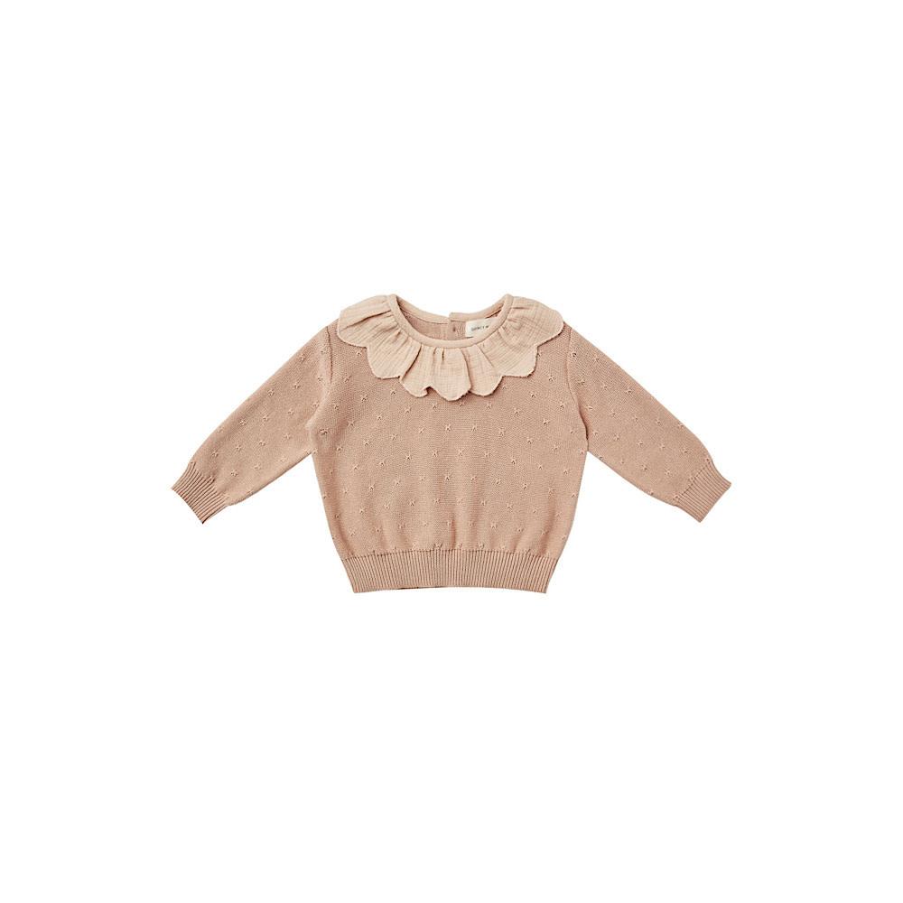 Quincy Mae Quincy Mae Petal Knit Sweater - Petal