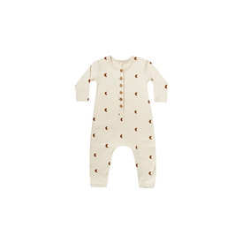 Quincy Mae Quincy Mae Longsleeve Jumpsuit Moons - Natural