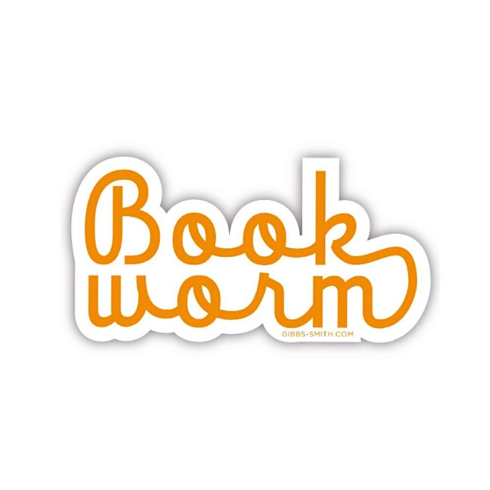 Gibbs Smith Book Worm Sticker