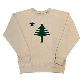 Original Maine Original Maine Flag Crew Sweatshirt - Natural
