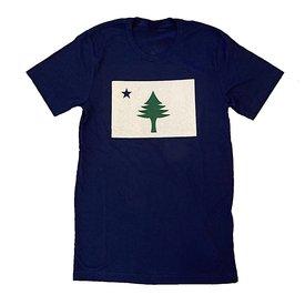 Original Maine Original Maine Flag T-Shirt - Navy