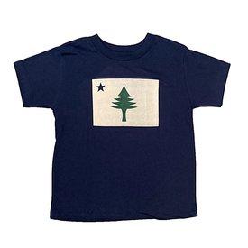 Original Maine Original Maine Flag Kids T-Shirt - Navy