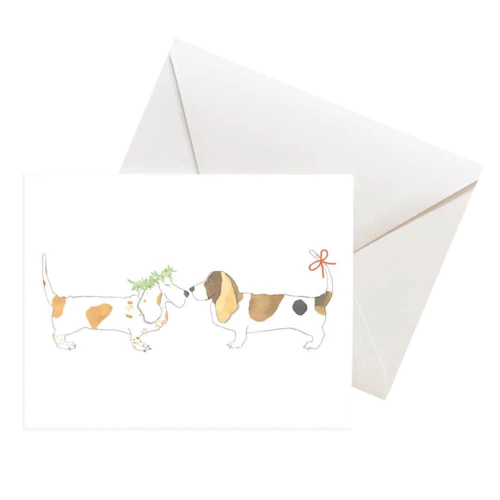 Sara Fitz Box of 8 Cards - Festive Hounds