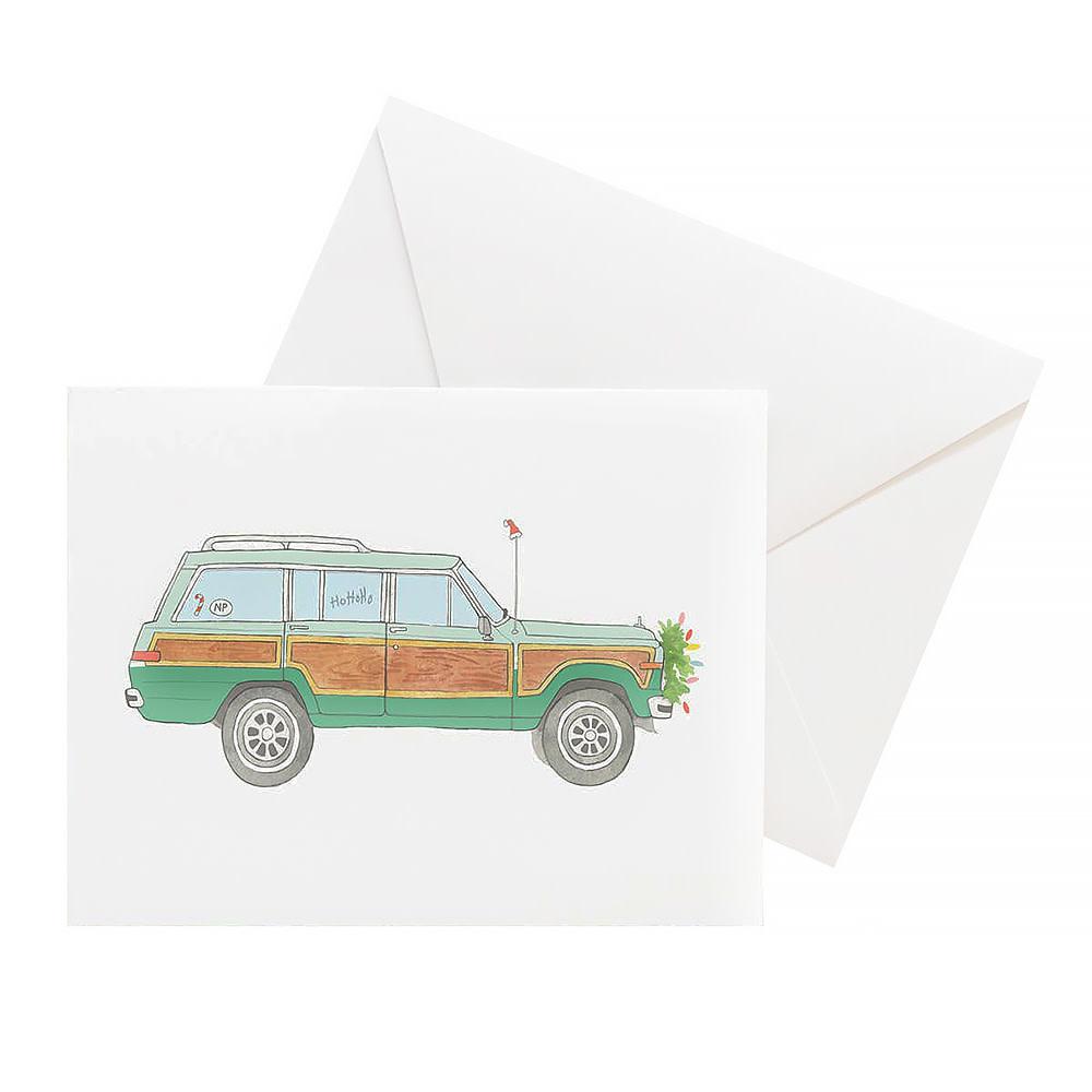 Sara Fitz Box of 8 Cards - Holiday Wagoneer