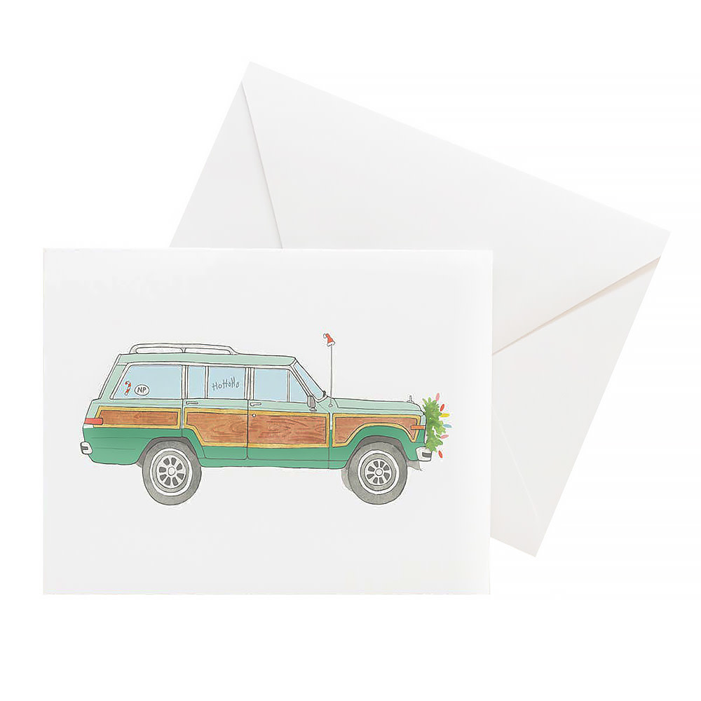 Sara Fitz Card - Holiday Wagoneer