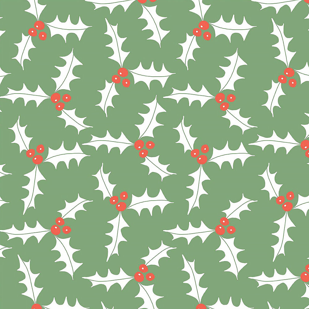 Sara Fitz Wrapping Paper - Holly
