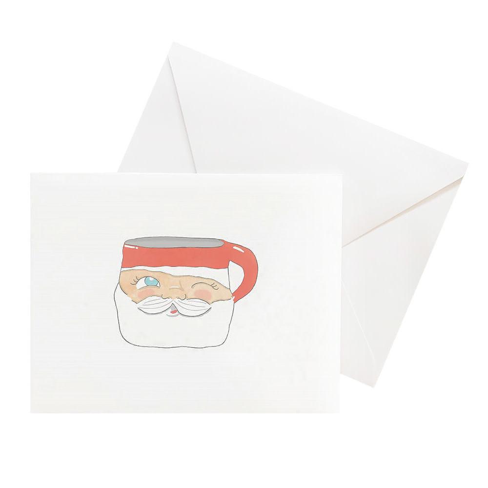 Sara Fitz Box of 8 Cards - Santa Mug