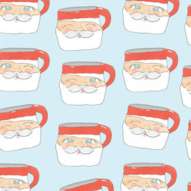 Sara Fitz Sara Fitz Wrapping Paper - Santa Mug