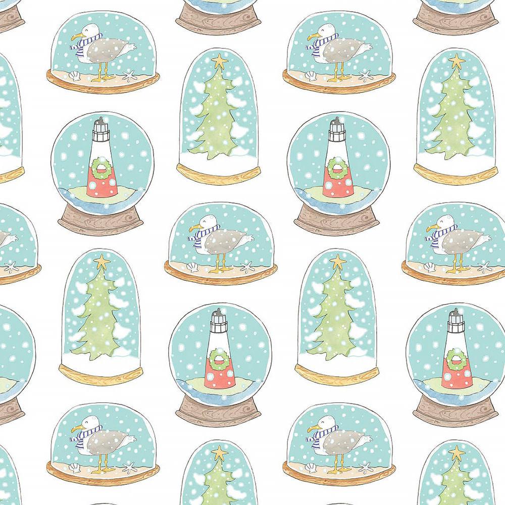 Sara Fitz Sara Fitz Wrapping Paper - Snow Globe