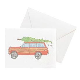 Sara Fitz Sara Fitz Box of 8 Cards - Tree Topped Wagoneer