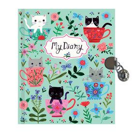Mudpuppy Teacup Kittens Locked Diary