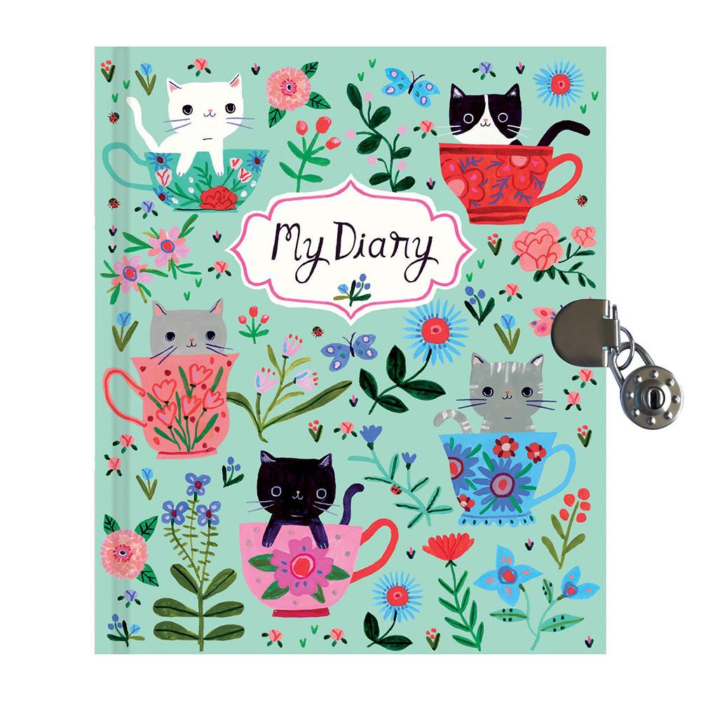 Teacup Kittens Locked Diary