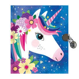 Mudpuppy Unicorn Locked Diary