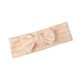 Two Little Beans and Co. Two Little Beans Top Knot Headband - Pink Stripe
