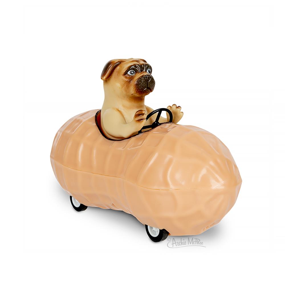 Archie McPhee Racing Pug in a Peanut