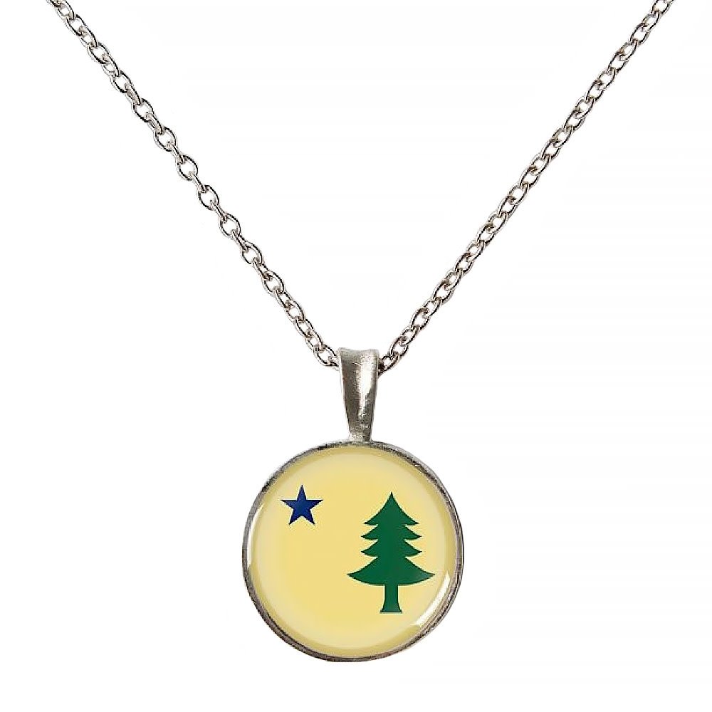 Chart Metalworks Chart Metalworks Necklace - Original Maine - XS - Pewter