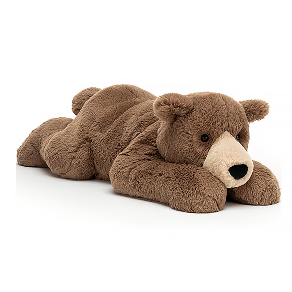 """Jellycat Jellycat Woody Bear Lying Pose 26"""""""