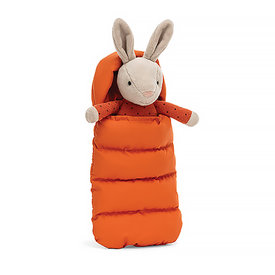 "Jellycat Jellycat Sleeping Bag Snuggler Bunny 10"""