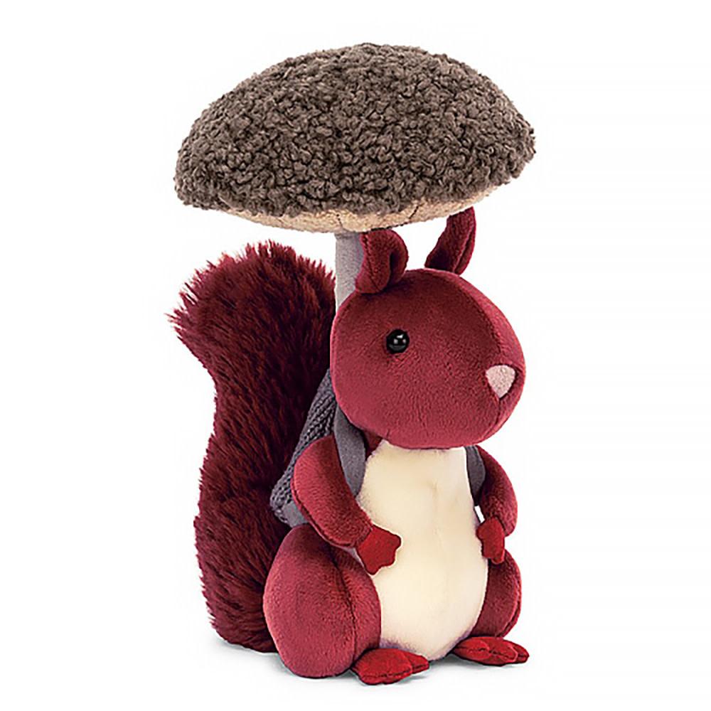 "Jellycat Fungi Forager Squirrel 9"""