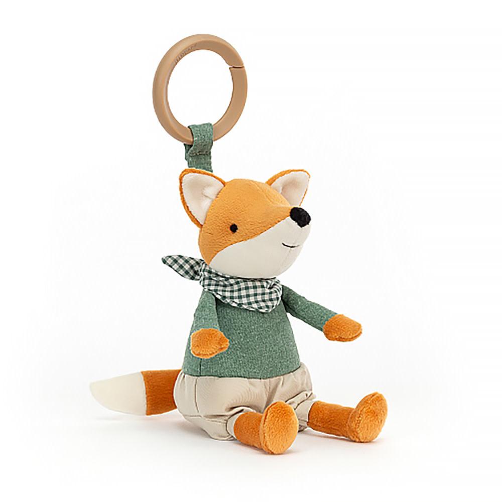 """Jellycat Jellycat Little Rambler Fox Rattle 5"""""""