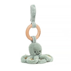 Jellycat Jellycat Wooden Ring Rattle - Odessey Octopus - 8 Inches