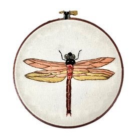 """Stitched On Langsford Embroidered Hoop 6"""" - Dragonfly"""