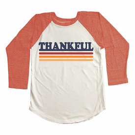 Tiny Whales Tiny Whales Thankful Raglan - Natural/Tri Red